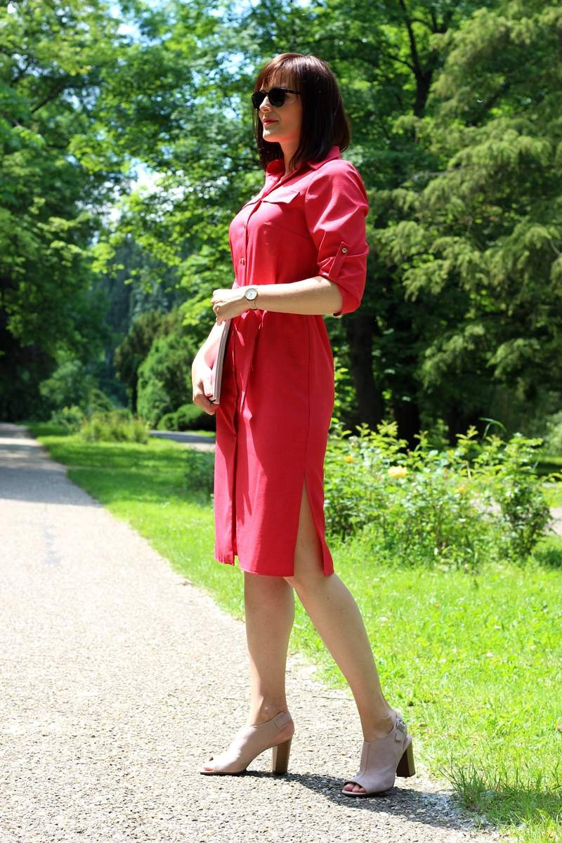 Košeľové šaty inšpirované Juliou R.