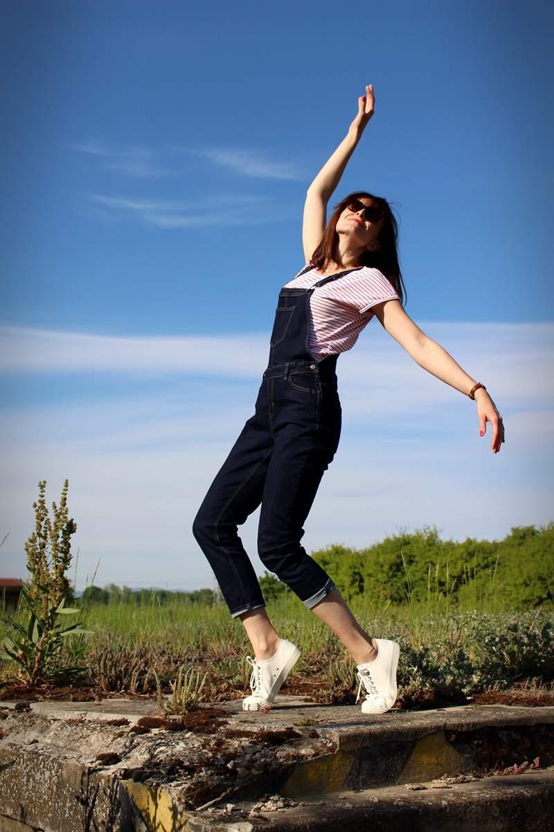 Jeansy na traky